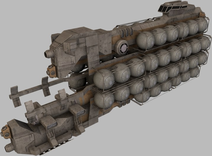ships fuel hauler 3d 3ds