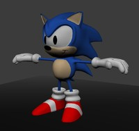 3d model blue hedgehog
