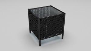 weaved table 3d model