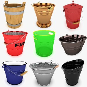 3ds bucket modeled