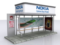 3d model bus stop shelter usa