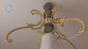 obj luxury chandelier