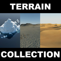 3d model sand desert terrain 2
