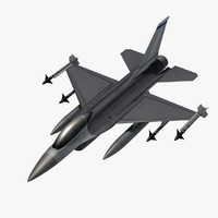 3d model f-16 aircraft fighter