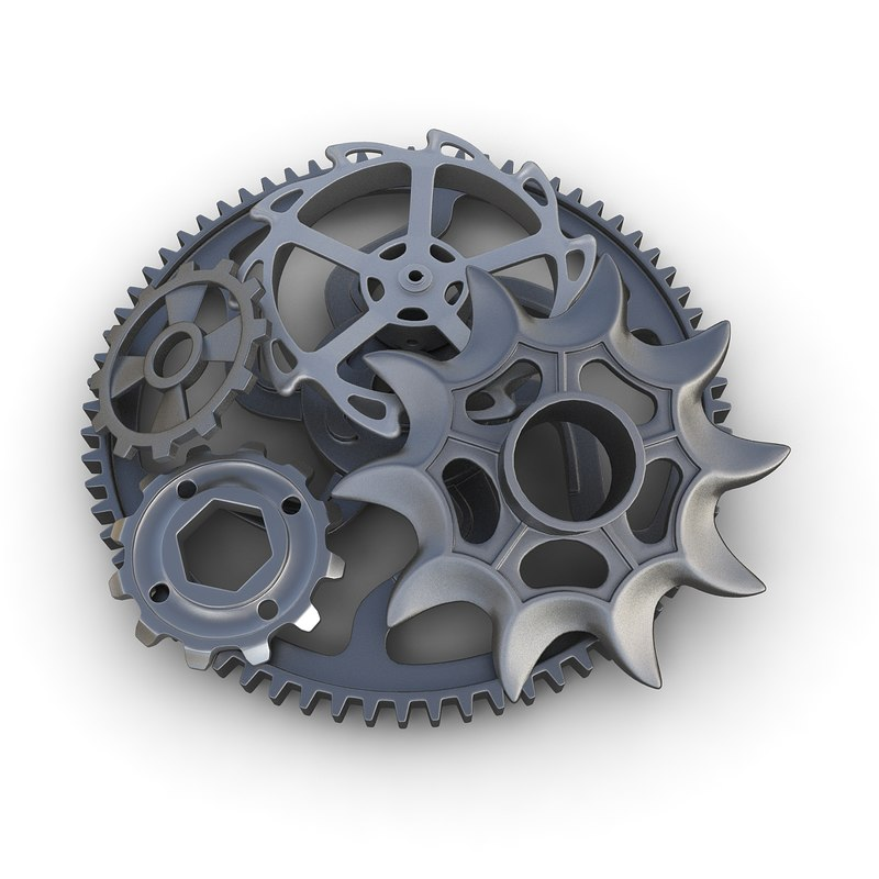 gears set 03 3d 3ds