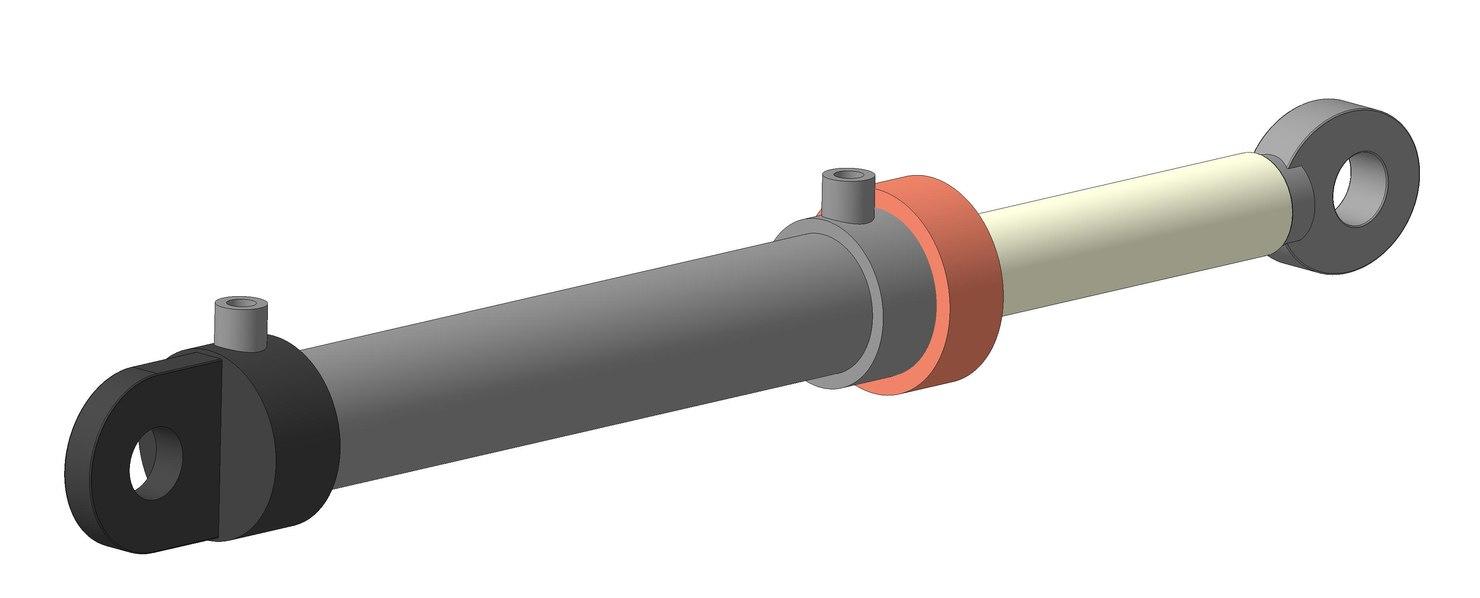 hydrocylinder 3d ige