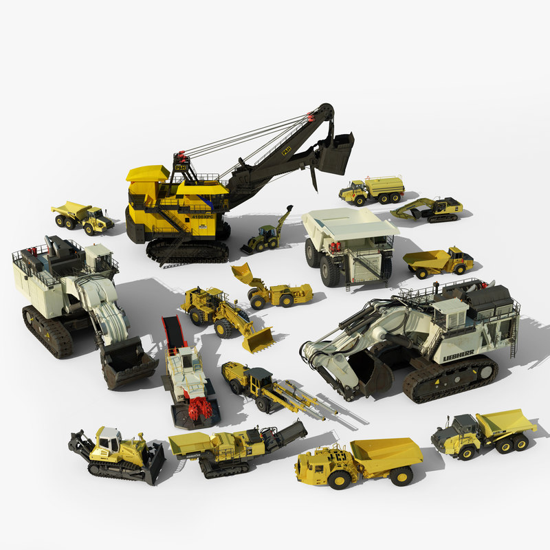 3d mining vehicles model