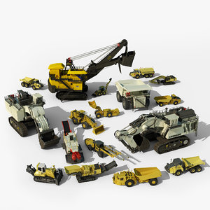 3d mining vehicles model