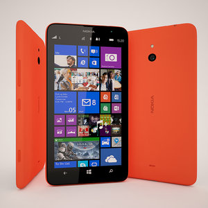 3d nokia lumia 1320 red model