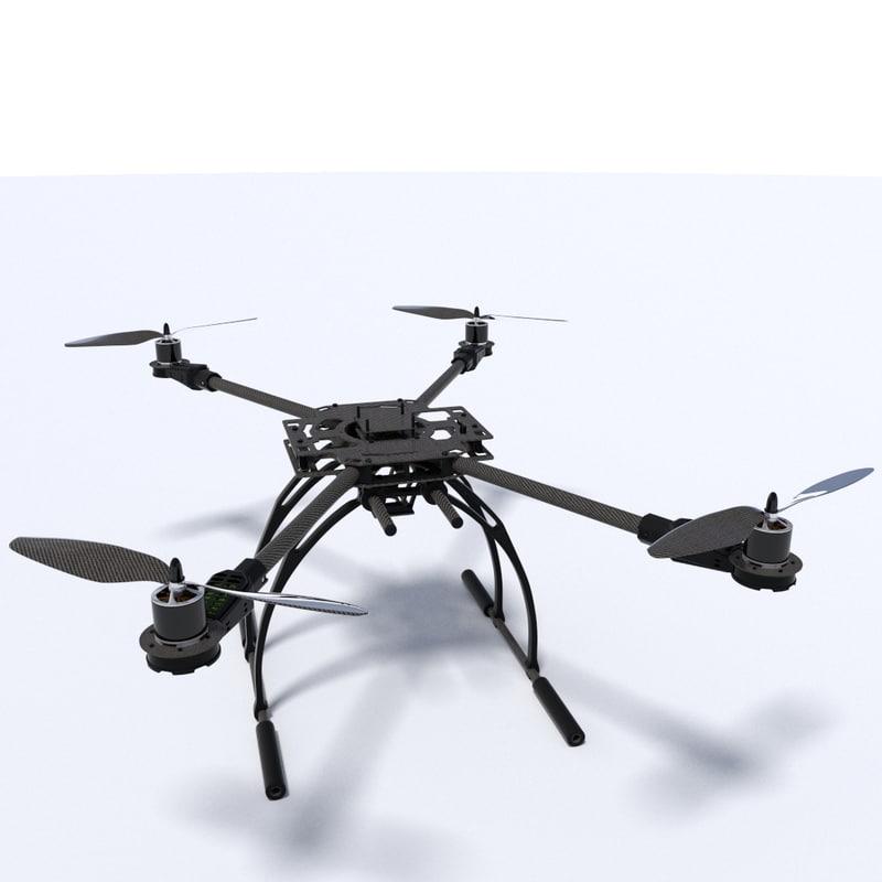 dxf quadcopter drone uav