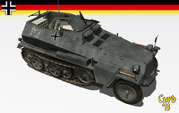 sdkfz 250 3d 3ds