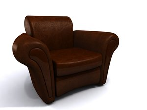 3d dosyanin leather chair model