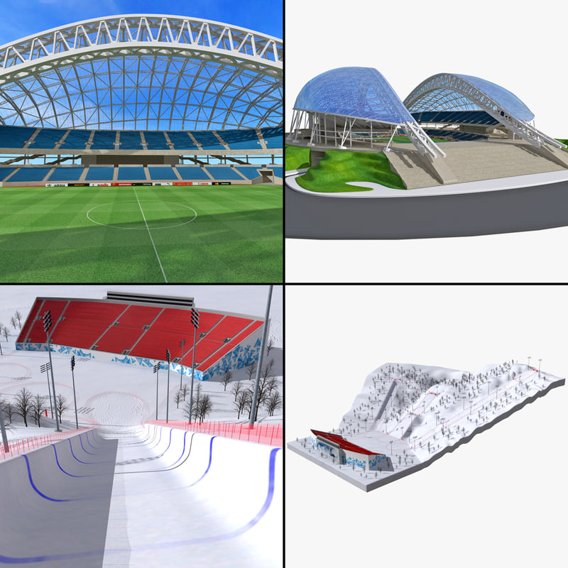 2014 winter olympics venue 3d model