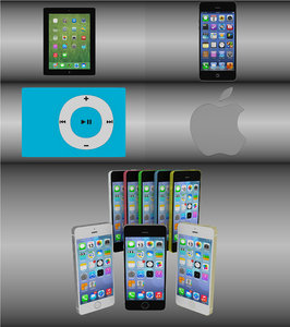 3d model apple logo iphone