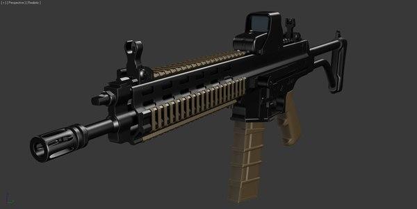 3d model robinson xcr weapon assault rifle