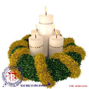 c4d christmas wreath