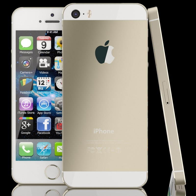 apple iphone 5s 5 3d model