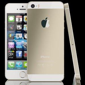 apple iphone 5s 5 3d model