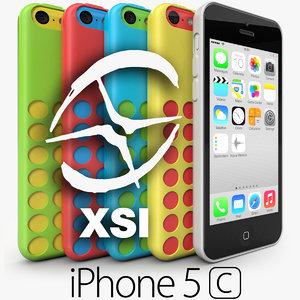 apple iphone 5c 3d x