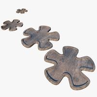 3d model stones flowers
