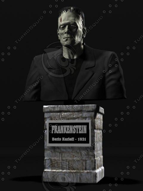 bust frankenstein 3d model
