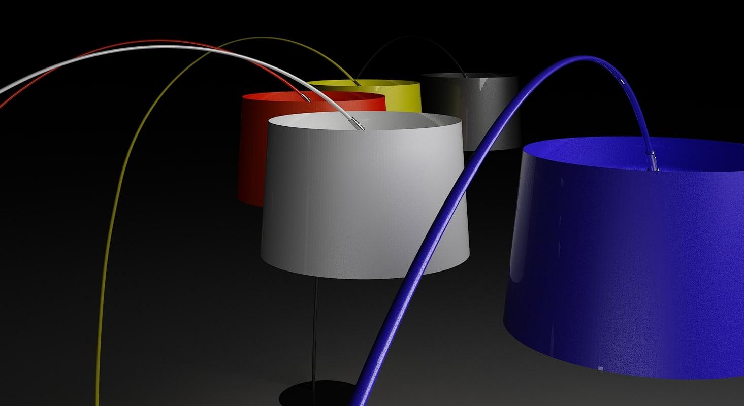 3d model foscarini twiggy lamp