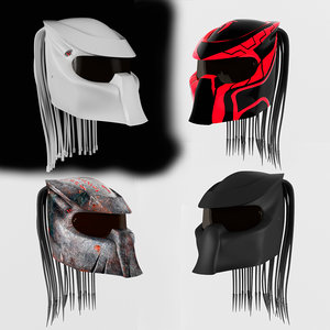 3d model 4 predator helmet