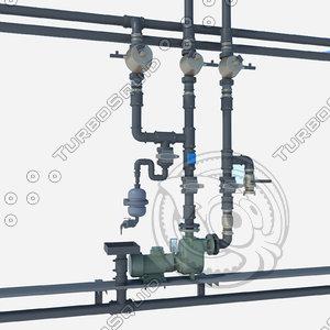 3d electric pump model