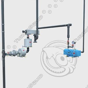 electric pump 3d obj