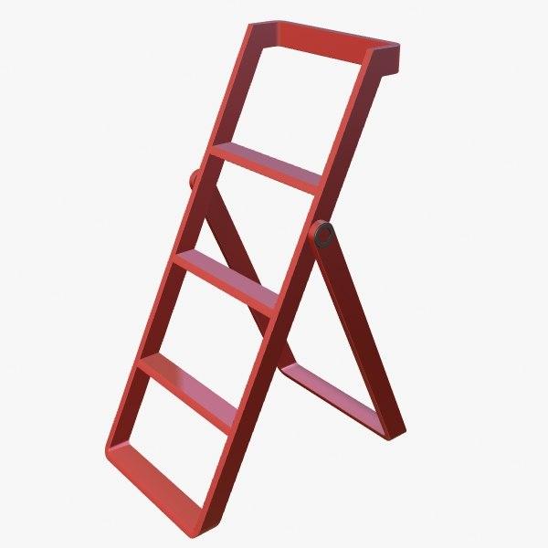 3d model stepladder step ladder