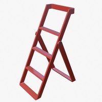 3d model stepladder step ladder