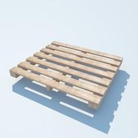 3d model pallet 2 wood 2011