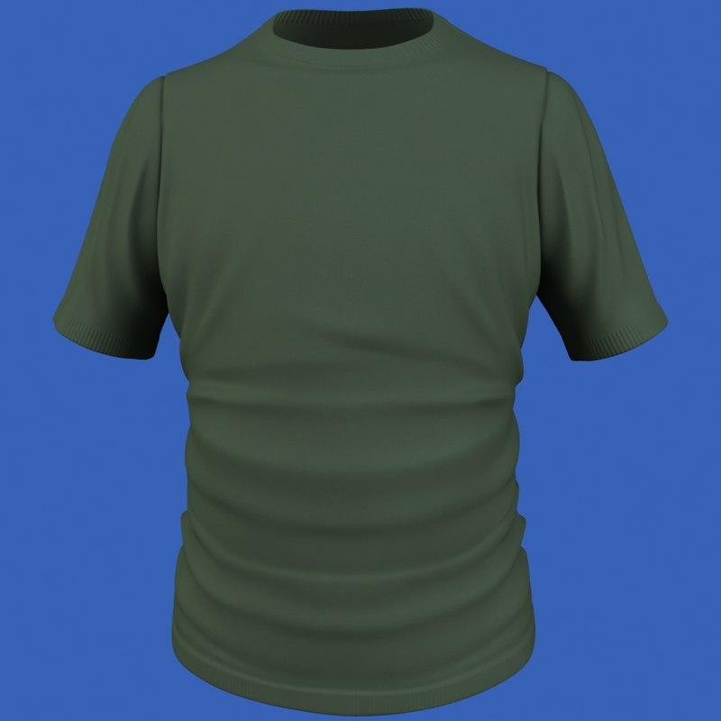 3d male t-shirt model