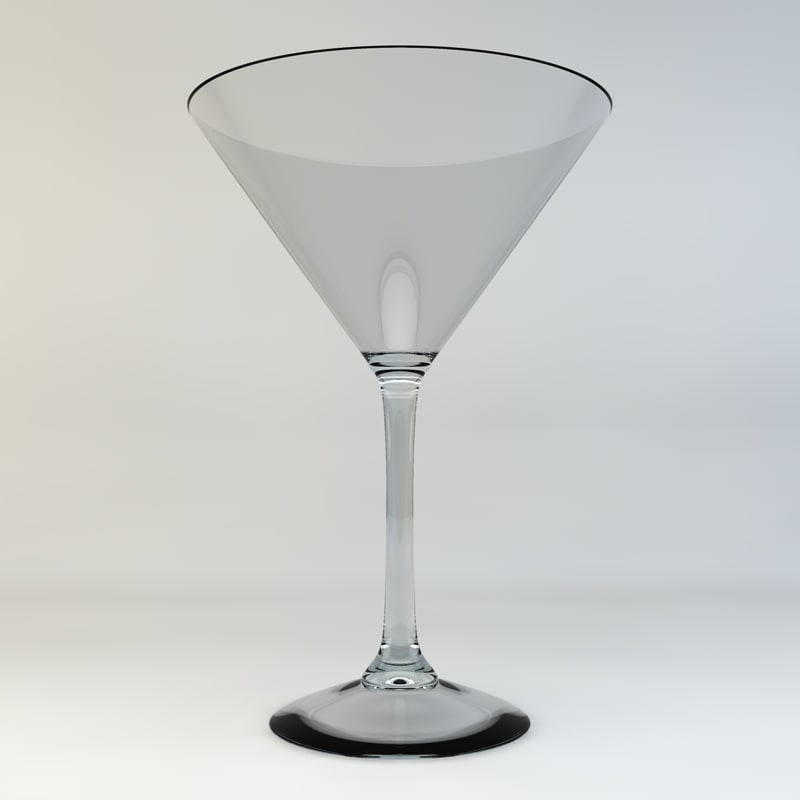 martini glass 3d c4d