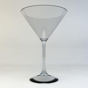 martini glass 3d c4d