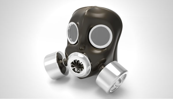 gas mask 3d max