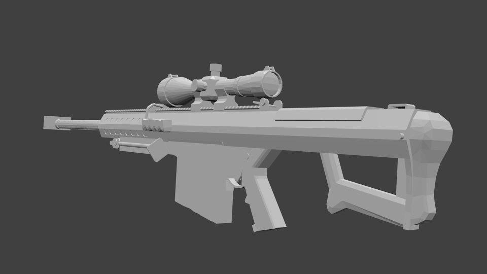 3ds max m107a2 sniper