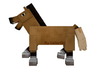 Cinema 4D Minecraft Horse Rig