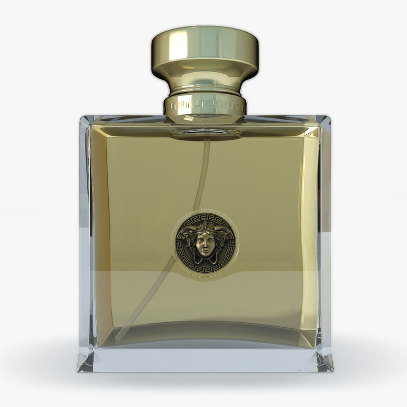 3d model perfume versace logo