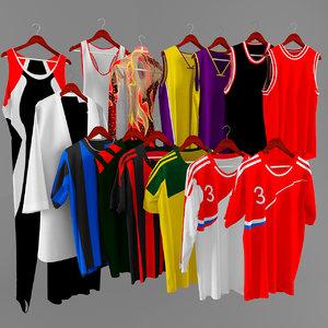 t-shirt football soccer 3d max