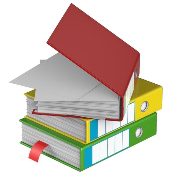 3d folder papers