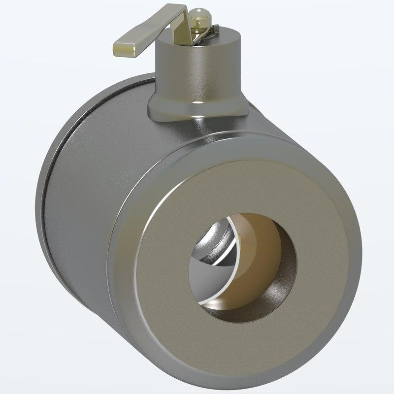 3d model oil valve