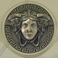 3d perfume versace logo model