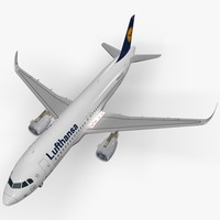 sharkleted airbus a320neo lufthansa 3ds