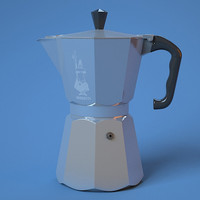 bialetti coffee pot 3d max