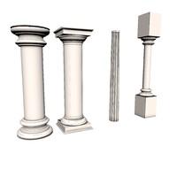 columns 3d obj