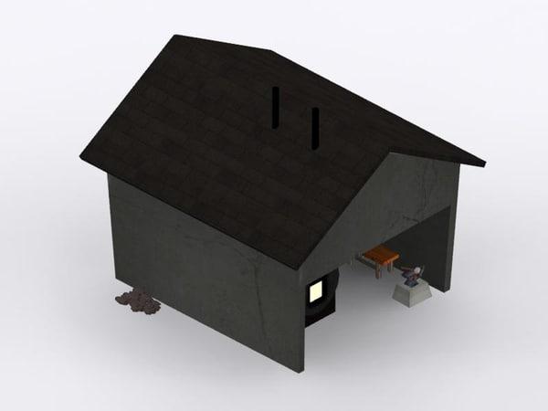 concrete blacksmith shed max free