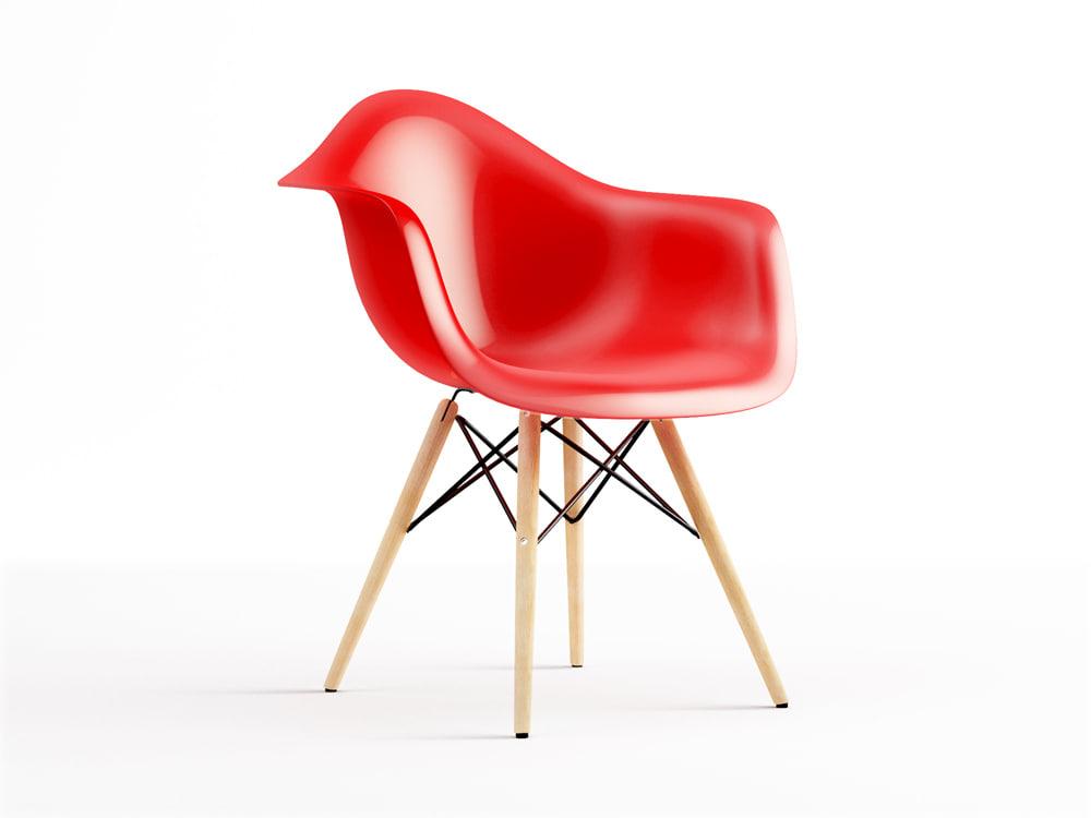 eames plastic armchair daw 3d max