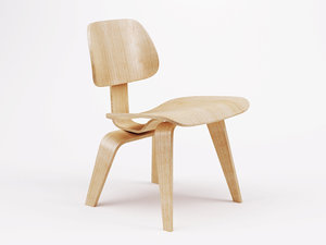 3d eames molded plywood chair