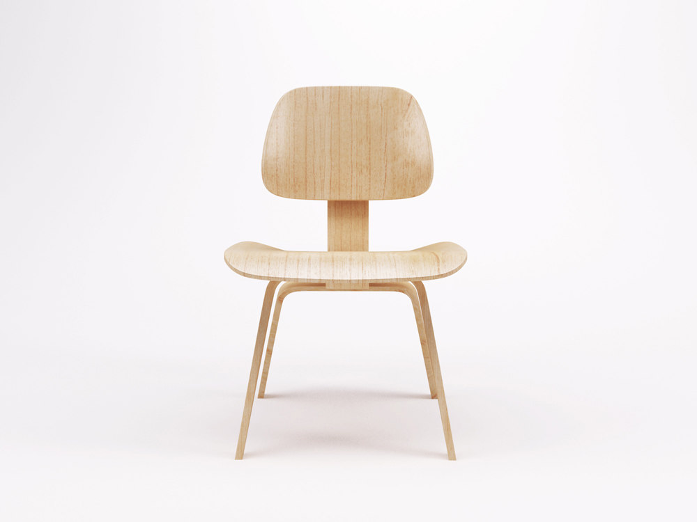 sc 1 st  TurboSquid & 3d eames molded plywood chair
